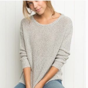 Brandy Melville Grey White Speckled Sweater